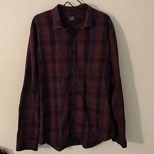 Armani Exchange Long Sleeve Button Up